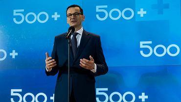 Premier Mateusz Morawiecki podczas uroczystości poświęconej programowi 500 Plus