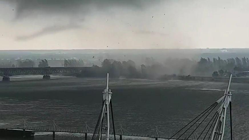 Trąba powietrzna w Płocku