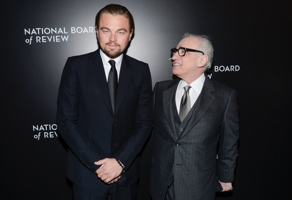 Leonardo DiCaprio i Martin Scorsese podczas gali wręczenia Spotlight Awards, styczeń 2014