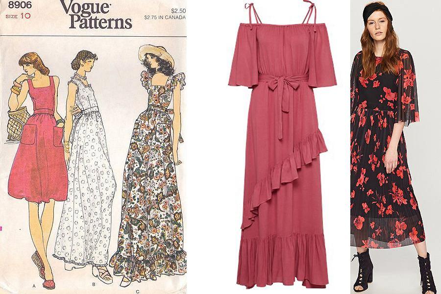 Sukienki maxi w stylu lat 70.