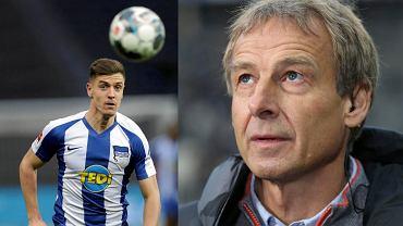 Krzysztof Piątek i Juergen Klinsmann