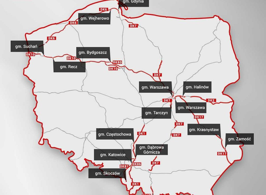 Najczęściej kontrolowane drogi w Polsce