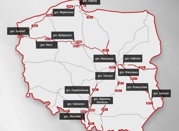 Mapa Polski Wszystko O Samochodach I Motoryzacji Moto Pl