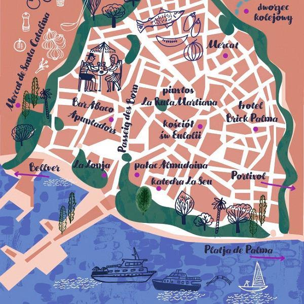 Mapa Palma de Mallorka