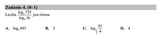 Matura poprawkowa 2016 matematyka, Zad. 4