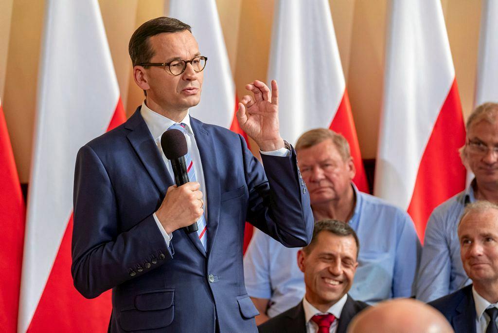 Mateusz Morawiecki podczas spotkania z przedsiębiorcami w Poznaniu.