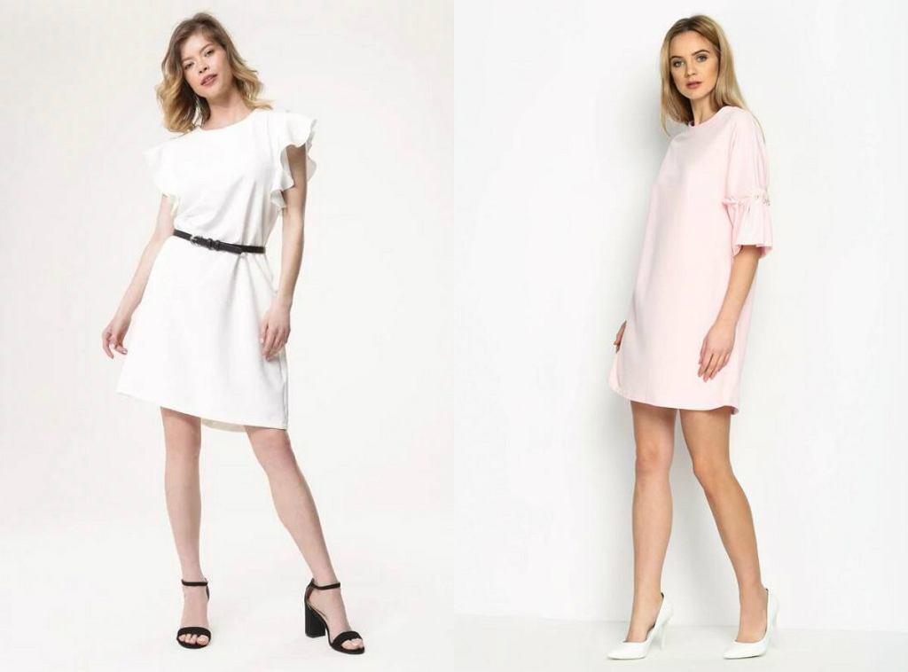 Eleganckie sukienki w jasnych, delikatnych kolorach idealnie sprawdzą się na przyjęcia w cieple dni