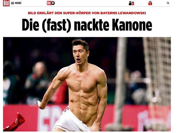 Tak Robert Lewandowski cieszył się z gola w Pucharze Niemiec