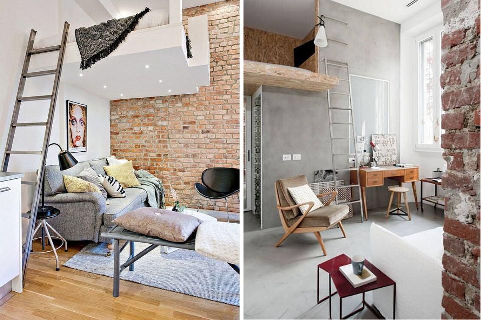 Małe mieszkanie z antresolą.