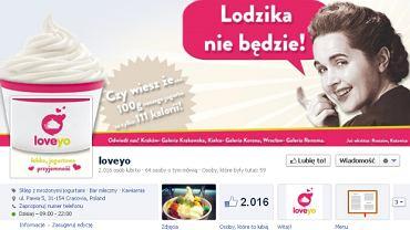 """Strona firmy Loveyo na Facebooku. Internauci są oburzeni hasłem """"Lodzika nie będzie"""""""