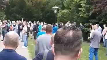 Pracownicy z Polski protestowali we Wiedniu przeciwko rządowym ograniczeniom w przekraczaniu granicy kraju