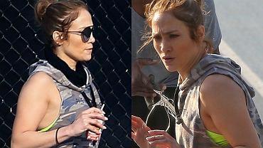 Kilka dni temu Jennifer Lopez została sfotografowana w Los Angeles podczas wspólnego treningu ze swoim partnerem, Alexem Rodriguezem. Spójrzcie tylko na to ciało 48-letniej piosenkarki w obcisłych leginsach! Widać na zdjęciach, że tak wspaniałe, kobiece kształty okupowane są ciężką pracą w postaci intensywnych treningów. Godne podziwu i naśladowania!