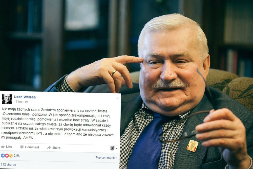 Najnowszy wpis Lecha Wałęsy na Facebooku