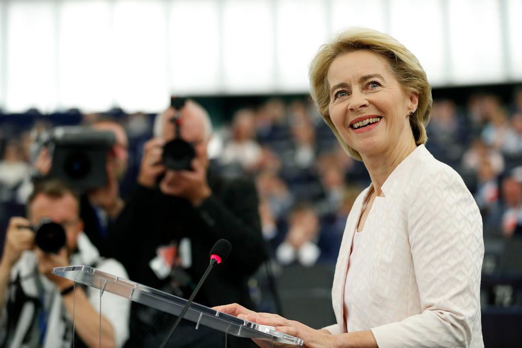 Ursula von der Leyen przemawia w Parlamencie Europejskim, Strasburg, 16 lipca 2019 r.