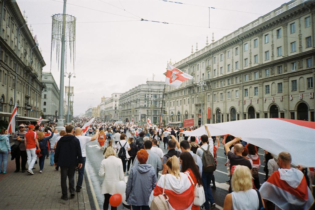 Protesty na Białorusi (zdjęcie ilustracyjne)