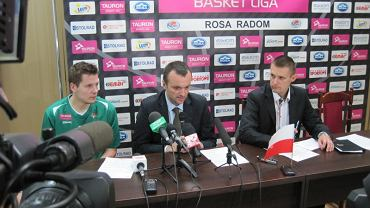 Konferencja po meczu Rosa - Stelmet