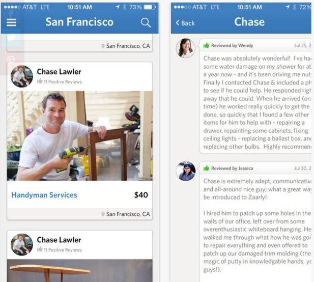 Zaarly - aplikacja umożliwiająca sprzedaż drobnych usług
