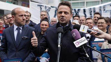 Rafał Trzaskowski i przewodniczący Platformy Obywatelskiej Borys Budka