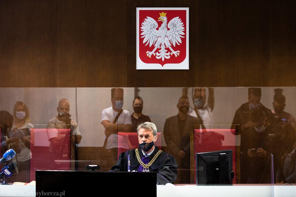 Pastor Paweł Chojecki skazany. Na zdjęciu sędzia Andrzej Klimkowski ogłaszający wyrok