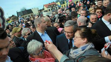 Bronisław Komorowski na spotkaniu z wyborcami w Konstantynowie