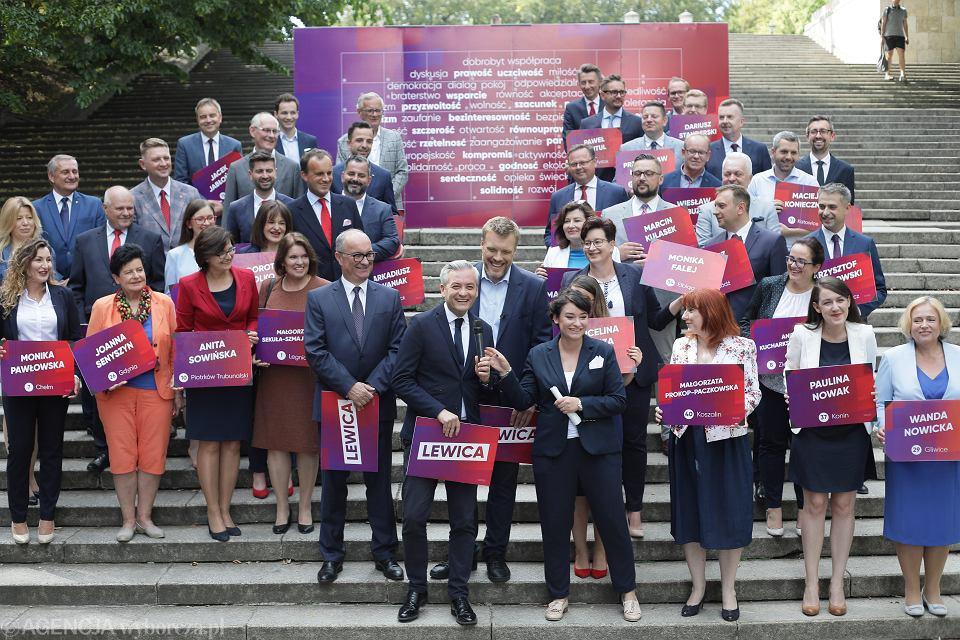 18.08.2019, Warszawa, Lewica prezentuje 'jedynki' w nadchodzących wyborach do Sejmu.