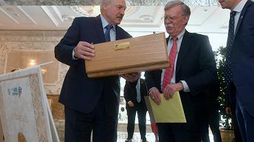 Doradca prezydenta USA John Bolton spotkał się z prezydentem Białorusi Aleksandrem Łukszanką, 29.08.2019