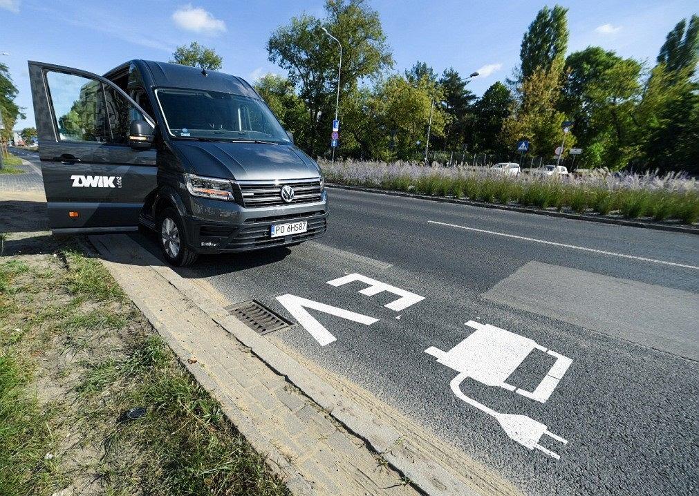 Buspas dla samochodów elektrycznych w Łodzi
