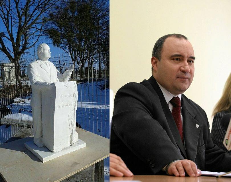 Koncepcja pomnika Przemysława Gosiewskiego, który stanąć ma w Kielcach
