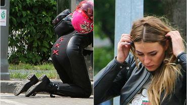 Marcelina Zawadzka, Miss Polski 2011, ma wyjątkowo męskie zainteresowania. Chyba już wiemy kto nosi spodnie w jej związku z Mikołajem Roznerskim! Prezenterka TVP wybrała się na przejażdżkę motocyklem po Warszawie. Wygląda niesamowicie seksownie w skórzanym stroju.