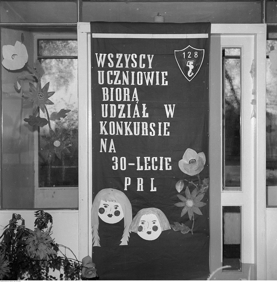 Szkoła Podstawowa nr 128 w Warszawie, 1974 r.