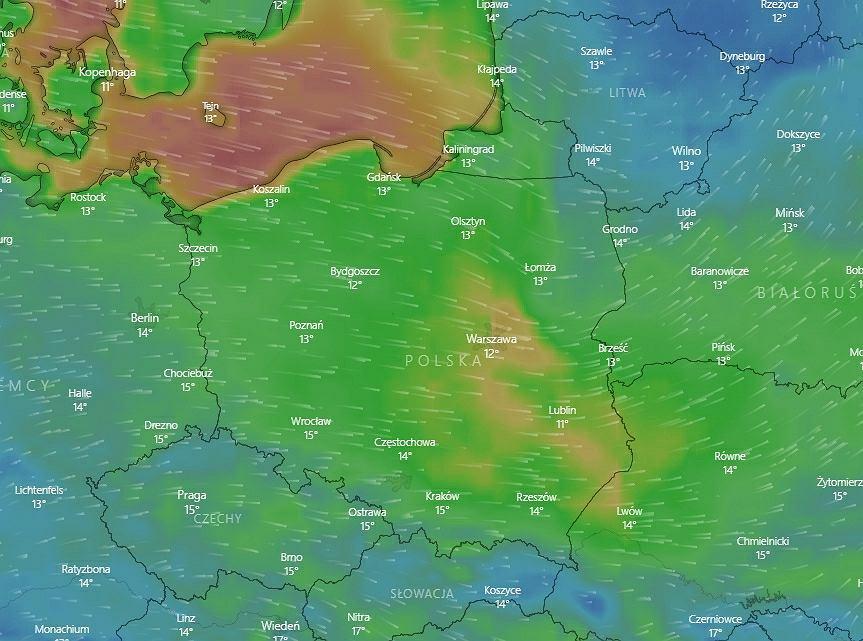 Pogoda dla Polski. IMGW: wyczuwalny wpływ Niżu Mortimer
