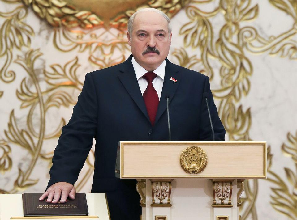 Ceremonia zaprzysiężenia Aleksandra Łukaszenki na prezydenta Białorusi w 2015 r.