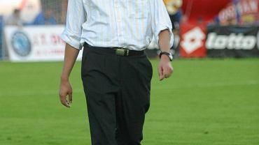 Dawid P. przed jednym ze spotkań Pogoni jesienią 2004 r.