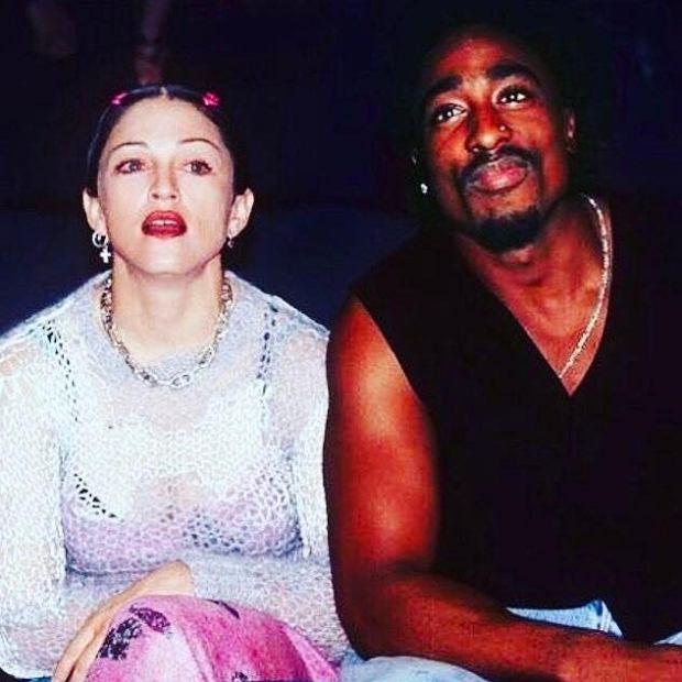 Madonna i Tupac Shakur kiedy byli parą.