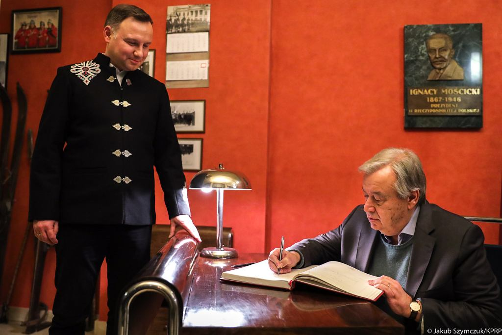 Andrzej Duda i António Guterres
