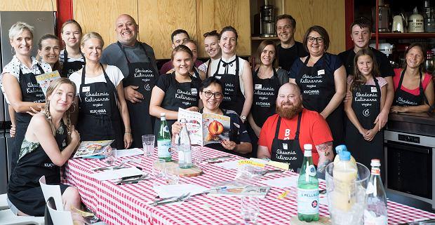 Uczestnicy sierpniowego warsztatu kulinarnego magazynu KUCHNIA i Akademii Kulinarnej Whirlpool - Śliwka po włosku