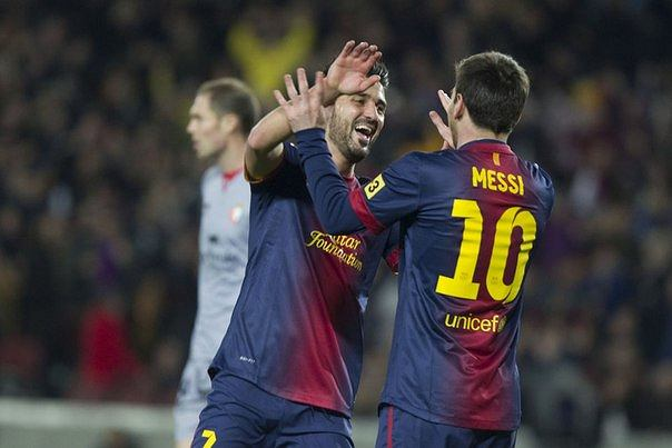 Lionel Messi i David Villa