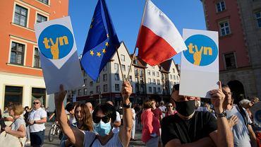 Protest w obronie wolnych mediów, przeciwko 'lex TVN'