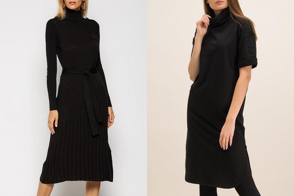 Czarne sukienki z golfem