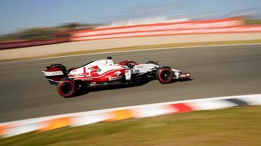 Robert Kubica w bolidzie zespołu Alfa Romeo Racing Orlen na torze Zandvoort w Holandii