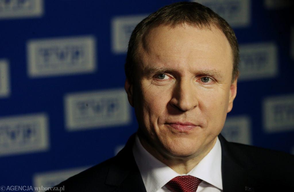 Prezes TVP z nadania PiS Jacek Kurski. Warszawa, 27 kwietnia 2016