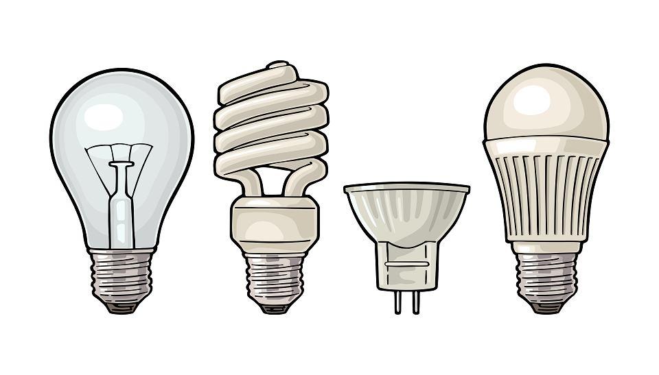 Jak zmieniało się oświetlenie: standardowa żarówka, świetlówka, halogen, LED