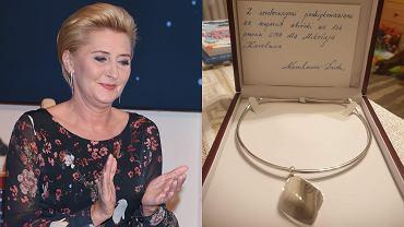 Agata Duda oddała naszyjnik na aukcję dla chorego chłopca