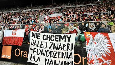 Kibice podczas meczu Polska - Słowacja