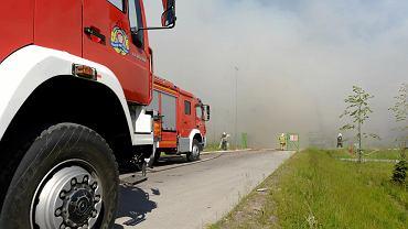 Pożar sortowni śmieci ZGOK w Olsztynie