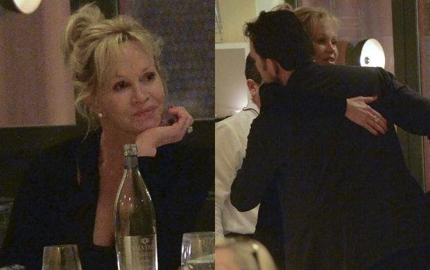 Melanie Griffith i Mat Dillon na kolacji w Rzymie