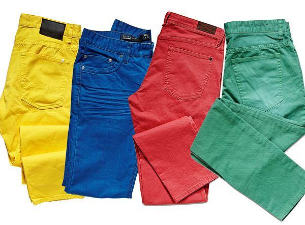 Modne kolorowe spodnie