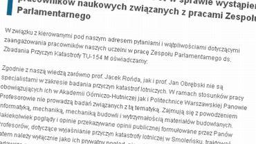 Oświadczenie władz AGH i Politechniki Warszawskiej