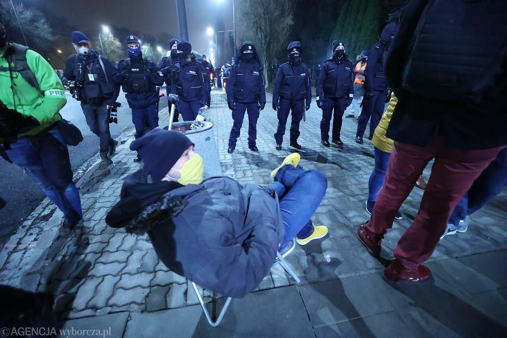 Akcja niedaleko domu Jarosława Kaczyńskiego w noc sylwestrową