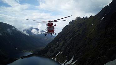 Akcja ratunkowa TOPR-u po wypadku w rejonie Buli pod Rysami.